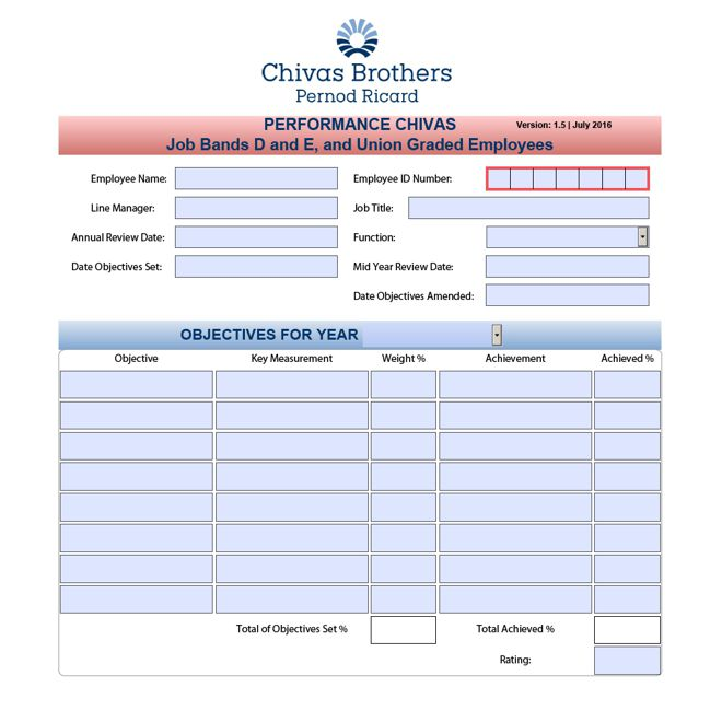 Employee performance rating pdf form